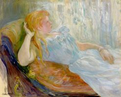 Young Girl Lying Down | Berthe Morisot | Oil Painting
