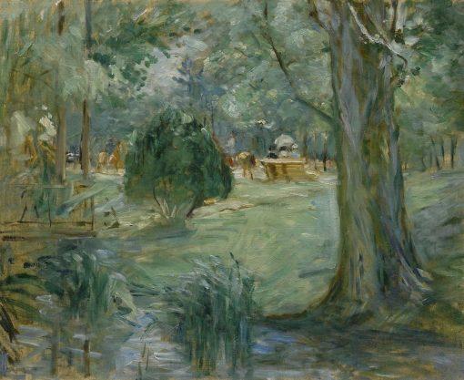 River in the Bois de Boulogne | Berthe Morisot | Oil Painting