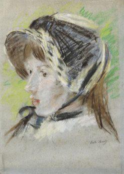 Jeanne Pontillon in a Capeline | Berthe Morisot | Oil Painting