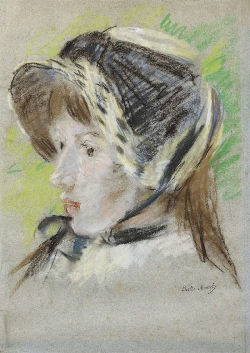 Jeanne Pontillon in a Capeline   Berthe Morisot   Oil Painting