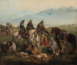Chilean Horsemen | Johann Moritz Rugendas | Oil Painting