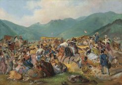 The Fiesta of San Juan in Amencaes | Johann Moritz Rugendas | Oil Painting