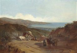 Valparaíso from the Santiago Road | Johann Moritz Rugendas | Oil Painting