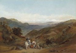 The Road between Santiago and Valparaíso from the Prado Hillside | Johann Moritz Rugendas | Oil Painting