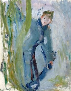 Girl Removing Her Skate | Berthe Morisot | Oil Painting