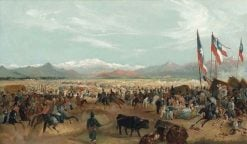 The Arrival of President Prieto at La Pampilla | Johann Moritz Rugendas | Oil Painting