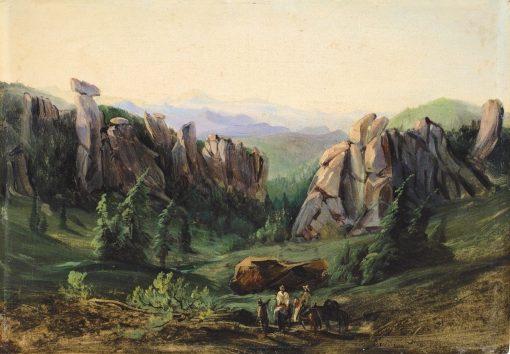 Sunset in El Chico | Johann Moritz Rugendas | Oil Painting