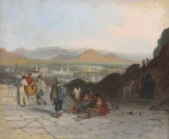View of Santiago from the Santa Lucía Hill to the East | Johann Moritz Rugendas | Oil Painting