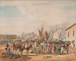 Brasilian Market | Johann Moritz Rugendas | Oil Painting
