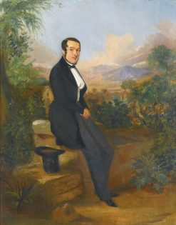 Portrait of George Hellman before a Vista in Tacna