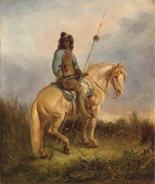 Equestrian Portrait of a Pehuenche Chief | Johann Moritz Rugendas | Oil Painting