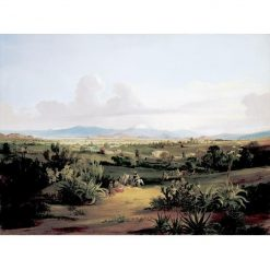 View of the Valley of Mexico with Volcanos and Lake Texcoco | Johann Moritz Rugendas | Oil Painting