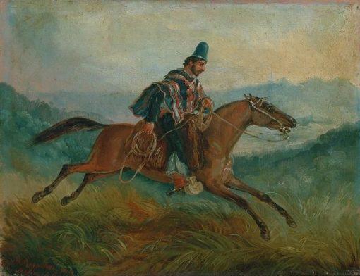 Chilean Rider | Johann Moritz Rugendas | Oil Painting