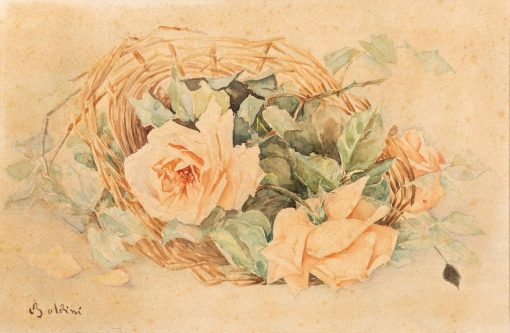 Basket of Roses | Giovanni Boldini | Oil Painting