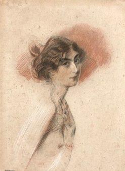 Young Female Nude in Profile   Giovanni Boldini   Oil Painting