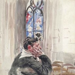 A Man Seated in a Church | Giovanni Boldini | Oil Painting