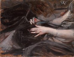 Female Hands Sewing   Giovanni Boldini   Oil Painting