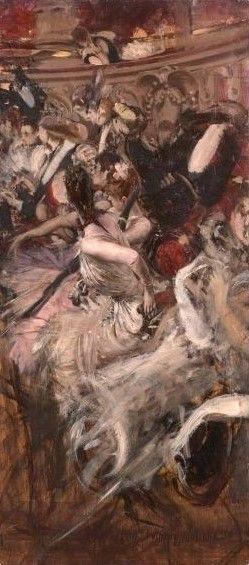 At the Paris Opera | Giovanni Boldini | Oil Painting