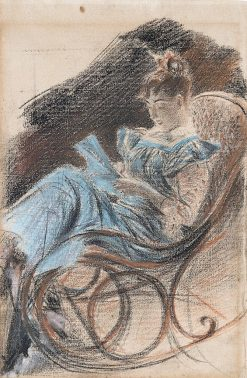 The Rocking Chair   Giovanni Boldini   Oil Painting