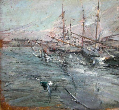 Boats in Venice | Giovanni Boldini | Oil Painting