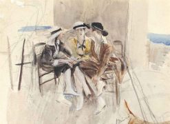 Three Women in Conversation on a Terrace | Giovanni Boldini | Oil Painting
