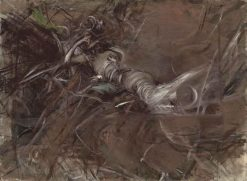 Figure of a Reclining Lady   Giovanni Boldini   Oil Painting