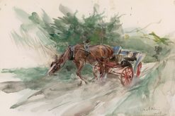 Horse and Carriage | Giovanni Boldini | Oil Painting