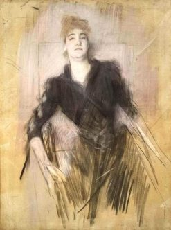 Young Woman   Giovanni Boldini   Oil Painting