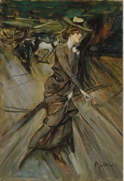 Woman Walking   Giovanni Boldini   Oil Painting