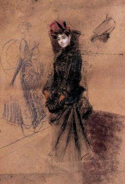 The Red Velvet Hat   Giovanni Boldini   Oil Painting