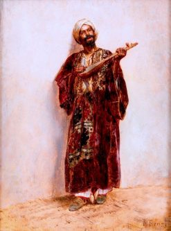 Zither Player | Rudolf Ernst | Oil Painting