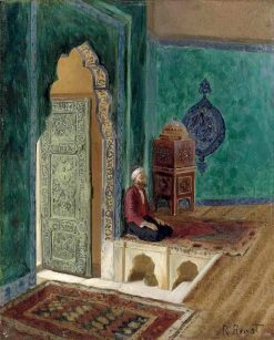 In the Mosque | Rudolf Ernst | Oil Painting