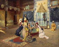 Charity among Dervishes at Scutari | Rudolf Ernst | Oil Painting
