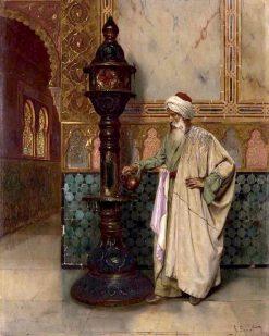An Arab Elder in a Palace | Rudolf Ernst | Oil Painting