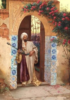 At the Entrance to the Palace Garden | Rudolf Ernst | Oil Painting