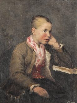 Girl in National Costume | Helene Schjerfbeck | Oil Painting