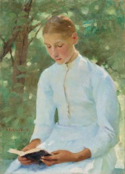 Before Confirmation | Helene Schjerfbeck | Oil Painting