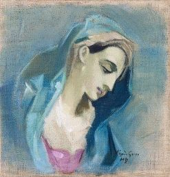 Blue Madonna | Helene Schjerfbeck | Oil Painting