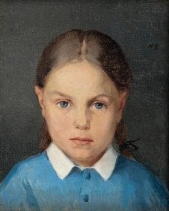Girl with Braids   Helene Schjerfbeck   Oil Painting