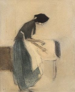 At the Hearth | Helene Schjerfbeck | Oil Painting