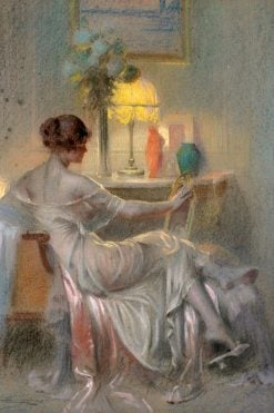 Evening by Lamplight | Delphin Enjolras | Oil Painting