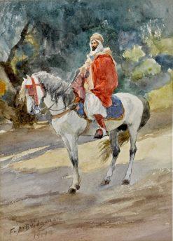 Algerian Spahi on Horseback | Frederick Arthur Bridgman | Oil Painting