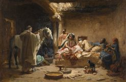 An Interior in Biskra | Frederick Arthur Bridgman | Oil Painting