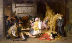 Carnival in Brittany | Frederick Arthur Bridgman | Oil Painting