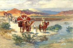 A Caravan in the Desert | Frederick Arthur Bridgman | Oil Painting