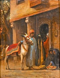 Algerian Street Scene | Frederick Arthur Bridgman | Oil Painting