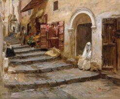 Casbah in Algiers | Frederick Arthur Bridgman | Oil Painting