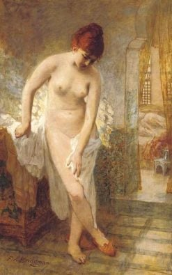 After the Bath | Frederick Arthur Bridgman | Oil Painting