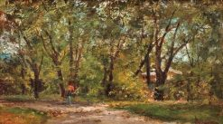 A Walk in the Park | Theodor Aman | Oil Painting