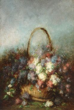 Lilac Basket | Theodor Aman | Oil Painting